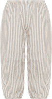 Isolde Roth Plus Size Striped linen balloon trousers
