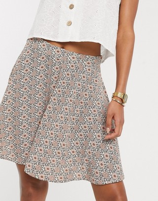 Vila geo floral mini skirt