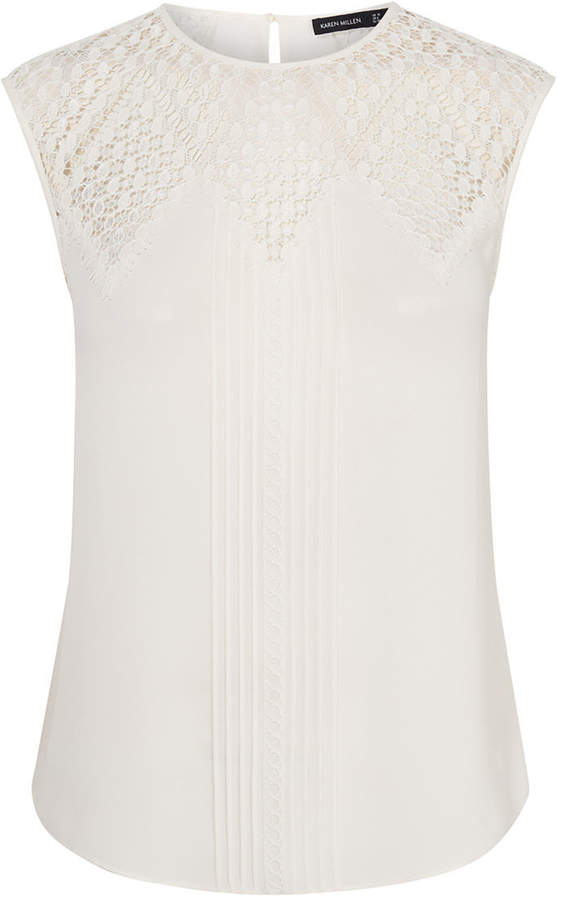 7bf42118d Karen Millen White Tops For Women - ShopStyle UK
