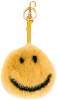 Anya Hindmarch Smiley fur keyring - women - Mink Fur - One Size