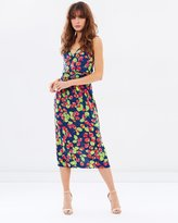 Warehouse Strawberry Print Wrap Back Dress