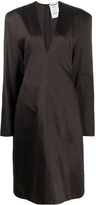 Jil Sander Pre Owned 2017's deep V-neck dress
