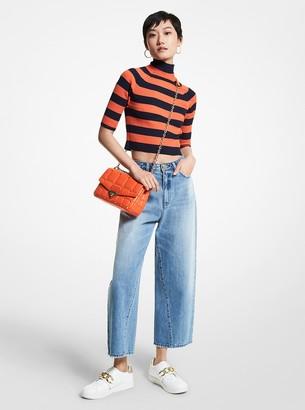 MICHAEL Michael Kors Cropped Wide Leg Jeans