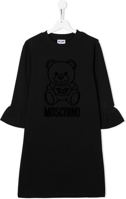 MOSCHINO BAMBINO TEEN teddy bear midi dress