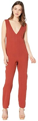 O'Neill Peyton (Dark Etruscan Red) Women's Jumpsuit & Rompers One Piece