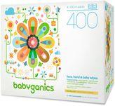 BabyGanics 400-pk. Fragrance-Free Face, Hand & Baby Wipes