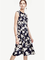 Ann Taylor Garden Blossom Fit and Flare Dress