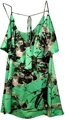 T-Bags LosAngeles T Bags Green Silk Dress for Women