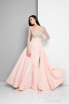 Terani Evening - Adorable Beaded Sweetheart Polyester A-Line Mermaid Gown 1712E3254