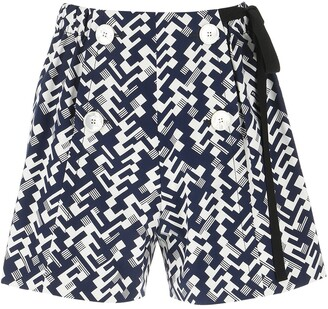 Prada Geometric Print Shorts