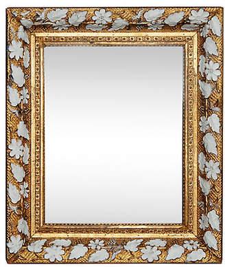 One Kings Lane Vintage Victorian Floral Mirror - Fleur de Lex Antiques