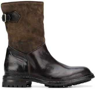Officine Creative Alix contrast texture boots