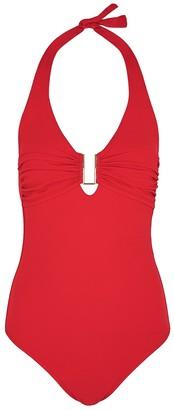 Melissa Odabash Tampa red halterneck swimsuit