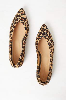 French Connection Naya Pointed Leopard Print Flats