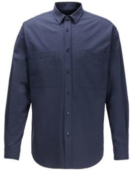 BOSS Relaxed-fit shirt in Italian cotton twill