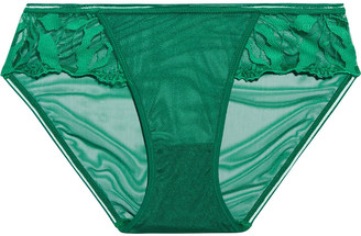 Maison Lejaby Embroidered Tulle Low-rise Briefs