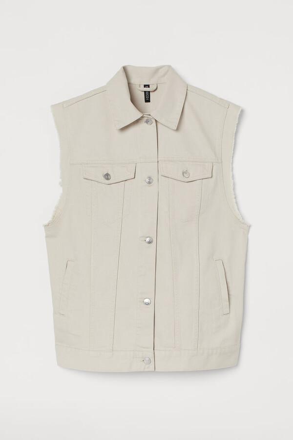 Thumbnail for your product : H&M Denim Vest - Beige
