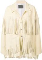 R 13 fringed oversized jacket