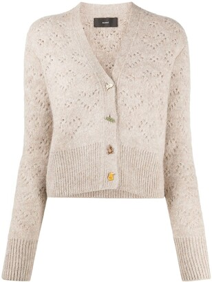 Alanui Perforated V-Neck Cardigan