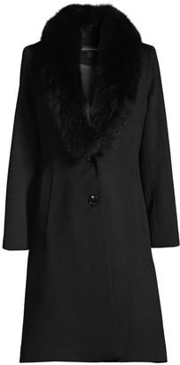 Sofia Cashmere Fox Fur Collar Jacket