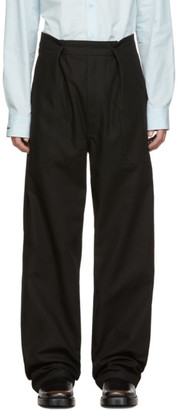 Raf Simons Black Twill Wide Fit Trousers