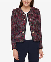 Tommy Hilfiger Embellished Tweed Blazer