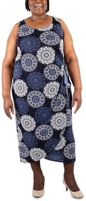 Robbie Bee Plus Size Printed Sarong Maxi Dress