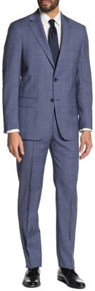 Hart Schaffner Marx Printed New York Fit 2-Piece Suit