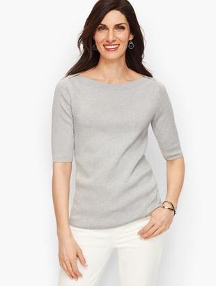Talbots Bateau Neck Sweater Topper - Shimmer