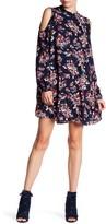 Angie Mock Neck Cold Shoulder Swing Dress