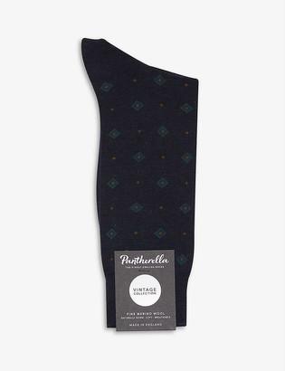 Pantherella Dyott Diamond wool-blend socks
