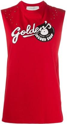 Golden Goose Logo Print Tank Top