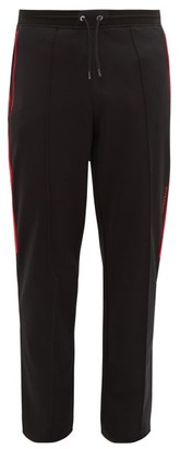 Givenchy Contrast-stripe Cotton-blend Track Pants - Mens - Black Red