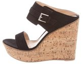 Gianvito Rossi Suede Slide Wedges