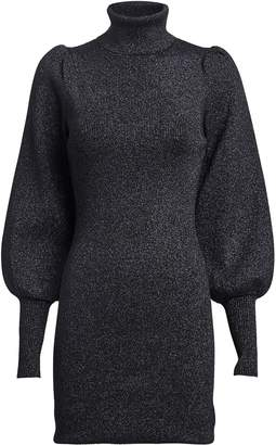 A.L.C. Audrey Lurex Turtleneck Sweater Dress