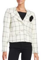 Karl Lagerfeld Paris Tweed Windowpane Blazer