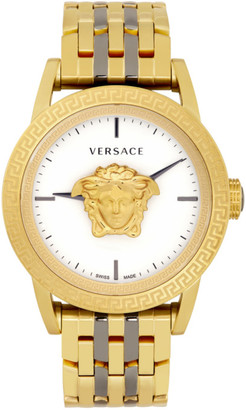 Versace Gold and Gunmetal Palazzo Empire Watch