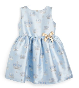 Lesy Sleeveless Crown Print Dress (3-10 Years)
