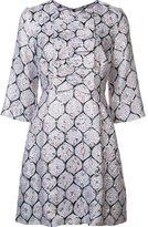 Suno three-quarters sleeve dress - women - Silk/Polyester/Spandex/Elastane - 4