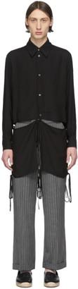 Loewe Black Tie Cut Panel Shirt