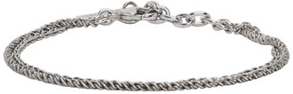 Saint Laurent Silver Double Chain Bracelet