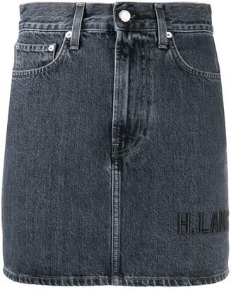 Helmut Lang Femme Hi mini denim skirt