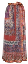 Etro Printed silk wrap skirt