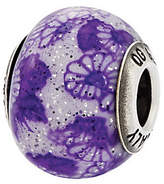 Murano Prerogatives Sterling Purple Floral Italian Bead