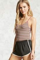 Forever 21 Striped Ribbed Bodysuit