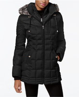 Nautica Faux-Fur-Hood Down Puffer Coat