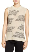 Nic+Zoe Sequin Sky Embellished Cotton Blend Sweater