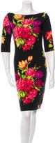 Blumarine Patterned Wool Dress