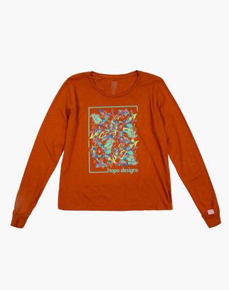 Madewell Topo Designs Women's Long-Sleeve Floral Tee