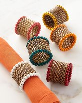Calaisio Four Bead-Rimmed Napkin Rings and Matching Items